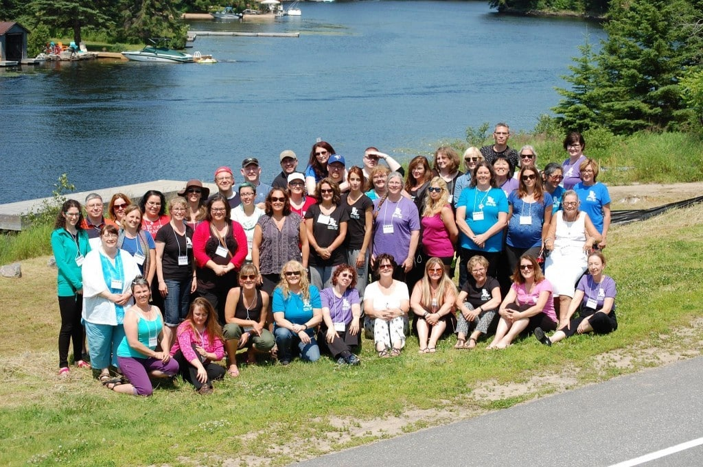 40 Writers at the 2015 Muskoka Novel Marathon - Photo Credit: Adam Brown